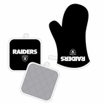 Raiders Oven Mitt and Pot Holder