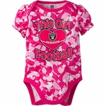 Raiders Pink Infant Camo Bodysuit
