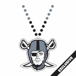 Raiders Pirate Logo Bead Necklace