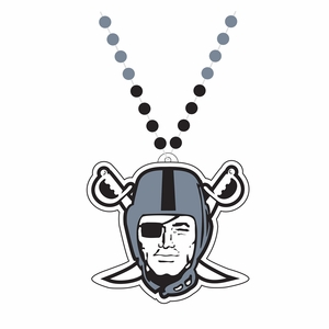 Raiders Pirate Logo Bead Necklace - Click to enlarge