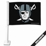 Raiders Pirate Logo Car Flag