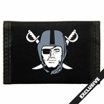 Raiders Pirate Logo Nylon Wallet