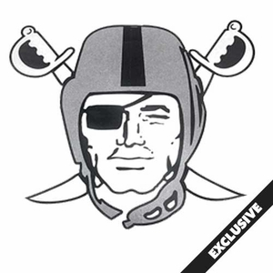 Raiders Pirate Logo Pennant - Click to enlarge
