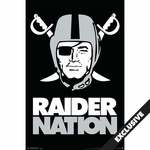 Raiders Pirate Logo Poster