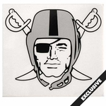 Raiders Pirate Logo Static Decal