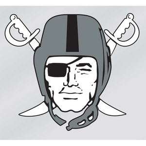 Raiders Pirate Logo Static Decal - Click to enlarge