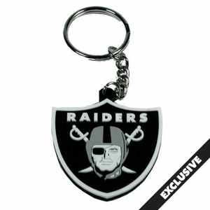 Raiders PVC Shield Logo Key Chain - Click to enlarge