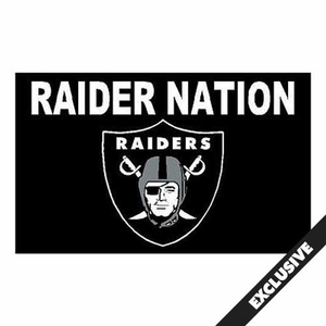 Raiders Raider Nation 3x5 foot Flag - Click to enlarge