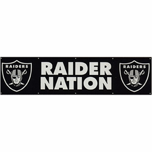 Raiders Raider Nation Eight Foot Banner - Click to enlarge