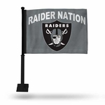 Raiders Raider Nation Grey Car Flag