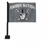 Raiders Raider Nation Pirate Logo Car Flag