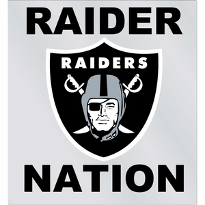 Raiders Raider Nation Static Cling - Click to enlarge