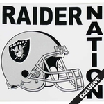 Raiders Raider Nation Static Cling