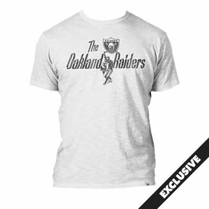 Raiders Retro White Scrum Tee - Click to enlarge