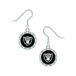 Raiders Rhinestone J-Hook Earrings