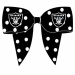 Raiders Ribbon Hair Clip