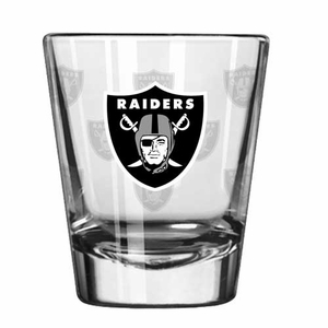 Raiders Satin Etch Shot Glass - Click to enlarge