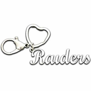 Raiders Script Keychain - Click to enlarge
