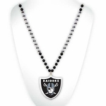 Raiders Shield Logo Beads