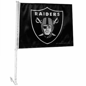 Raiders Shield Logo Car Flag - Click to enlarge