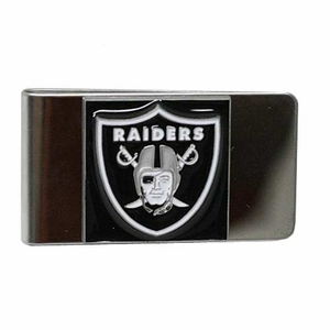 Raiders Shield Pewter Money Clip - Click to enlarge