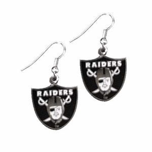 Raiders Shield Wire Dangle Earrings - Click to enlarge