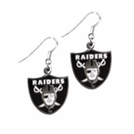 Raiders Shield Wire Dangle Earrings