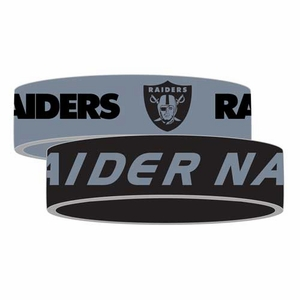 Raiders Silicone Bracelet Two Pack - Click to enlarge