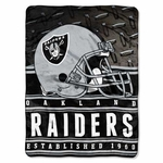 Raiders Silk Touch Mink Sherpa Throw