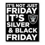 Raiders Silver and Black Friday Lapel Pin