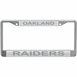 Raiders Silver Matte License Frame