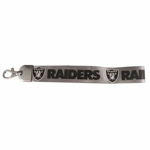 Raiders Silver Wristlet Lanyard - Click to enlarge