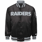 Raiders Starter Closer Black Satin Jacket