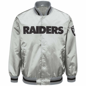 Raiders Starter Closer Grey Satin Jacket - Click to enlarge