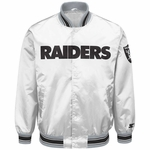 Raiders Starter Closer White Satin Jacket