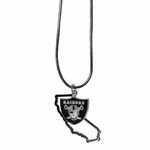Raiders State Charm Necklace