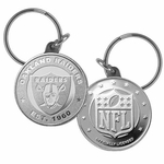 Raiders Steel Medallion Keychian