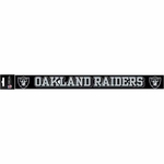 Raiders Strip Color Letters Die Cut Decal