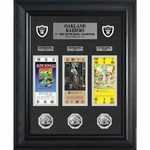 Oakland Raiders Super Bowl Game Tickets and Coins