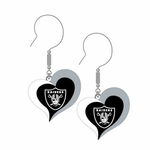 Raiders Swirl Heart Earrings