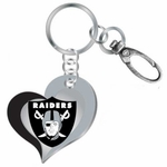 Raiders Swirl Heart Key Ring