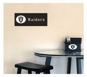 Raiders Team Name Plaque - Click to enlarge