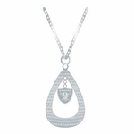 Raiders Tear Drop Necklace
