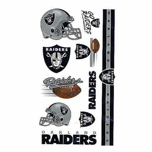 Raiders Temporary Tattoo Sheet - Click to enlarge