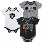 Raiders Three Points Bodysuit Set