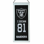 Raiders Tim Brown Mini Legacy Banner