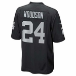 Raiders Toddler Charles Woodson Black Game Jersey