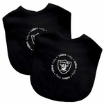 Raiders Two Pack Cotton Baby Bib