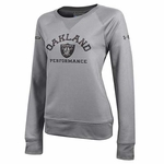 Raiders Under Armour Women's French Terry Crew