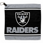 Oakland Raiders Waffle Towel with Carbineer